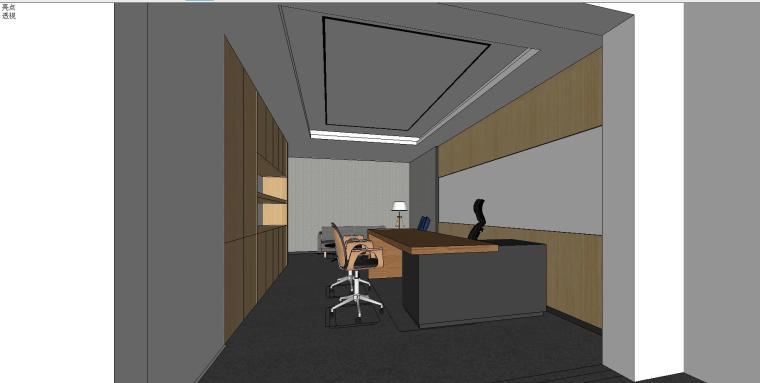 新方重庆沙区总部办公室内su模型设计 (8)