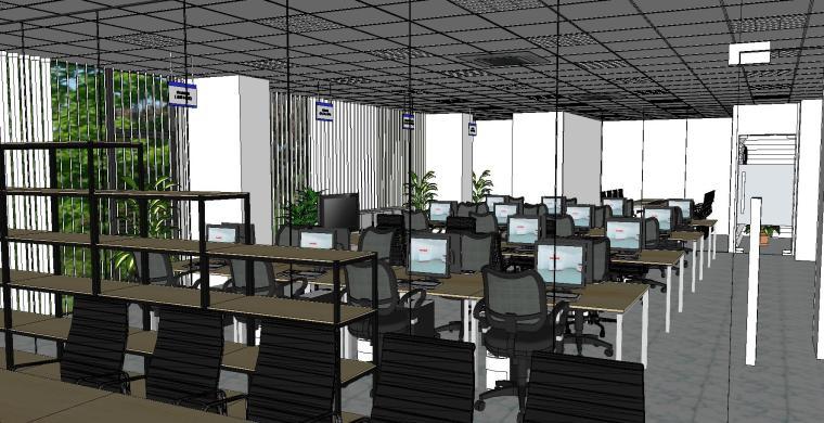 现代简约办公室室内模型设计-现代简约办公室室内模型设计 (6)