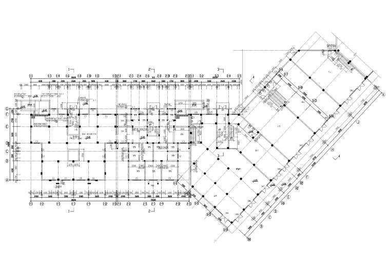 [长春]金玉良园小区高层建筑施工图-地下层平面图