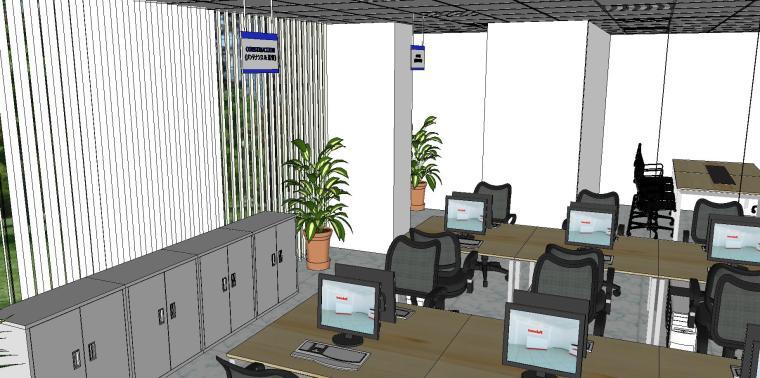 现代简约办公室室内模型设计-现代简约办公室室内模型设计 (7)