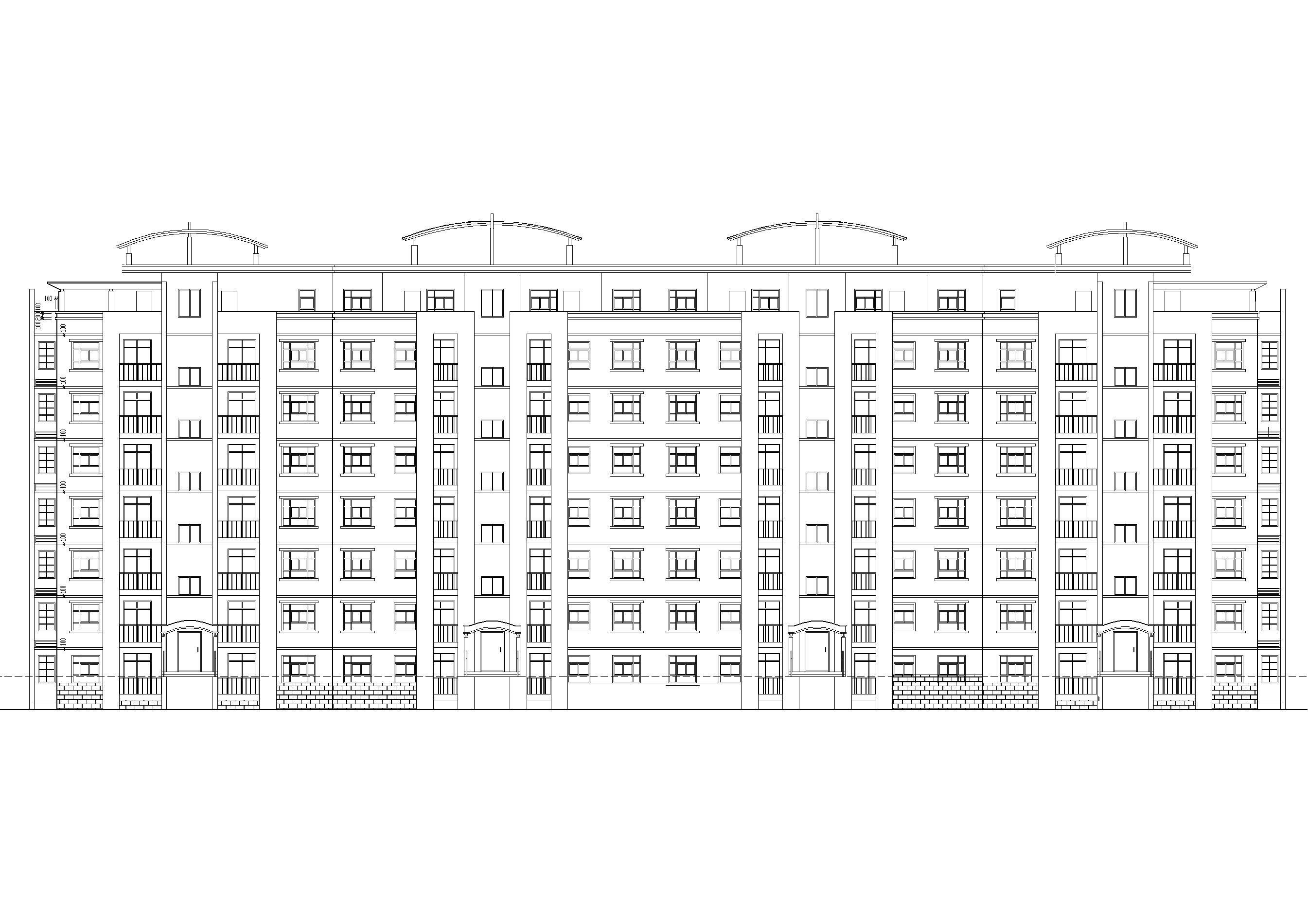 某坡地八层多层住宅建筑方案扩初图