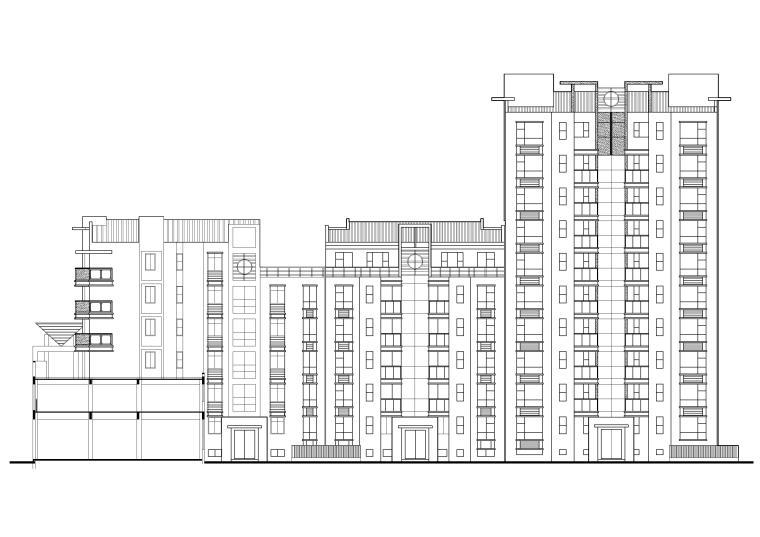 [长春]金玉良园小区高层建筑施工图