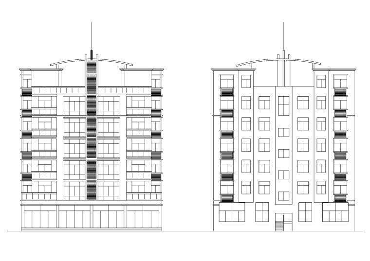 五套多层住宅建筑施工图纸