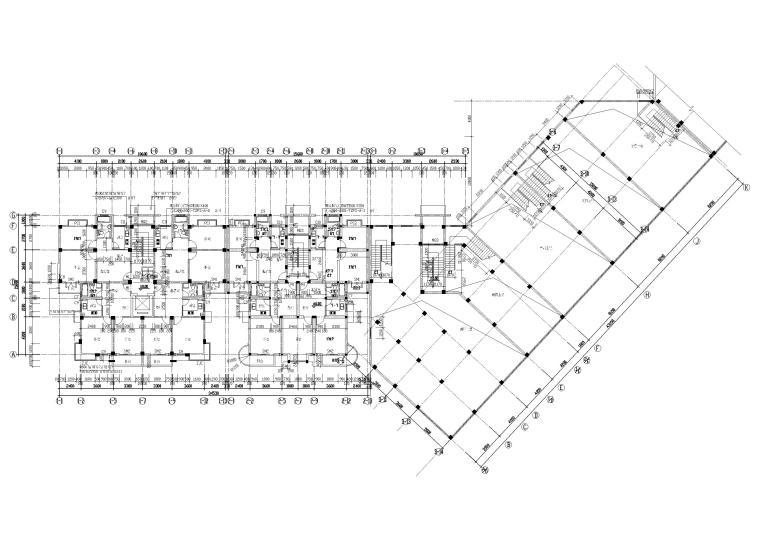 [长春]金玉良园小区高层建筑施工图-一层平面图