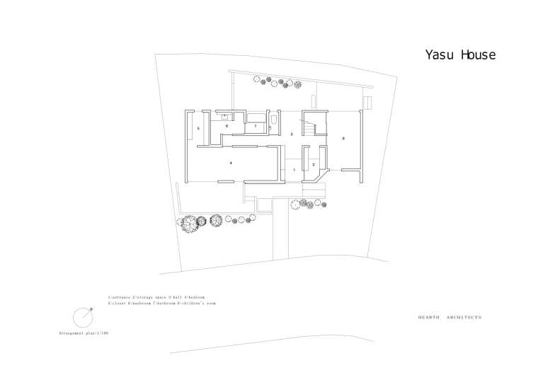 日本Yasu住宅-Arrangement_plan