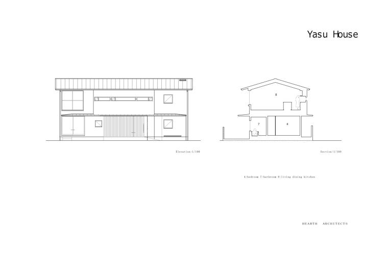 日本Yasu住宅-Elevation