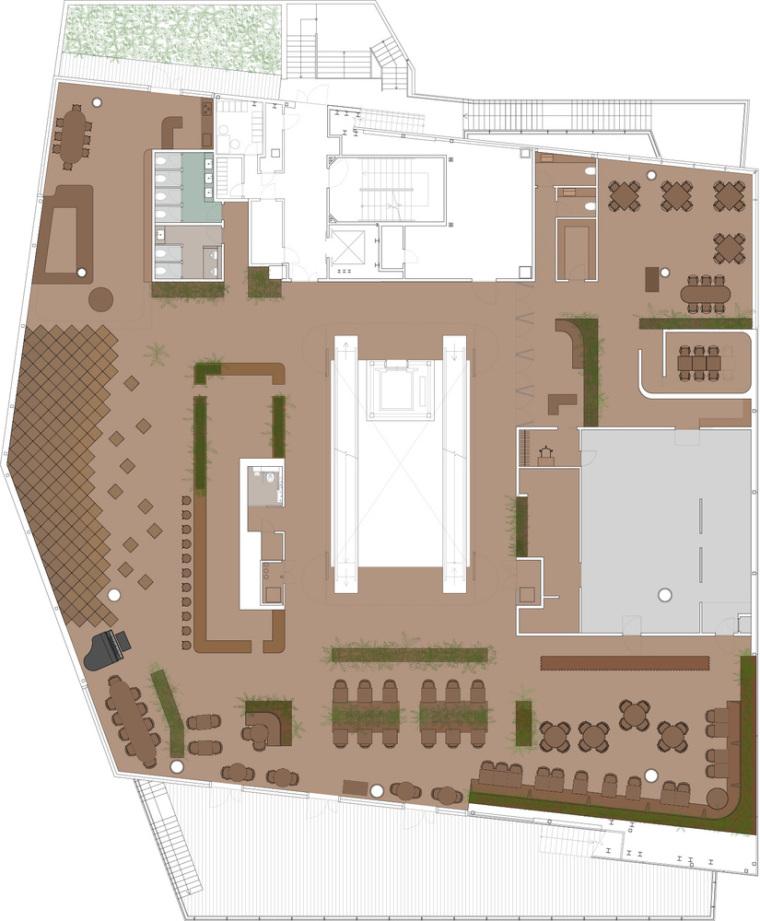 日本GYRE.FOOD餐厅和商店-1.300_BW_AR1-003_General_Floor_Plan__4F__AR1-003_(1)COLOUR