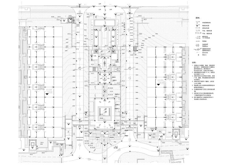 B区主入口区竖向平面图