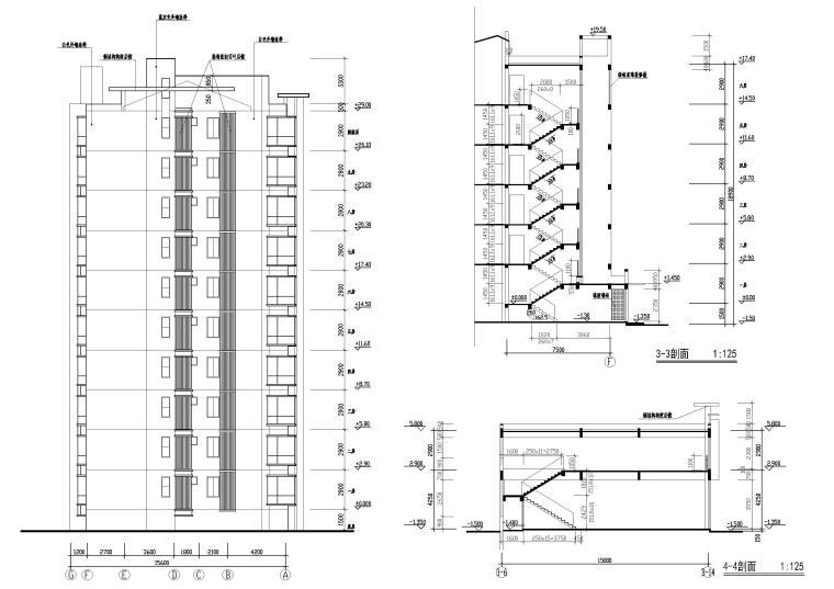 [长春]金玉良园小区高层建筑施工图-楼梯详图