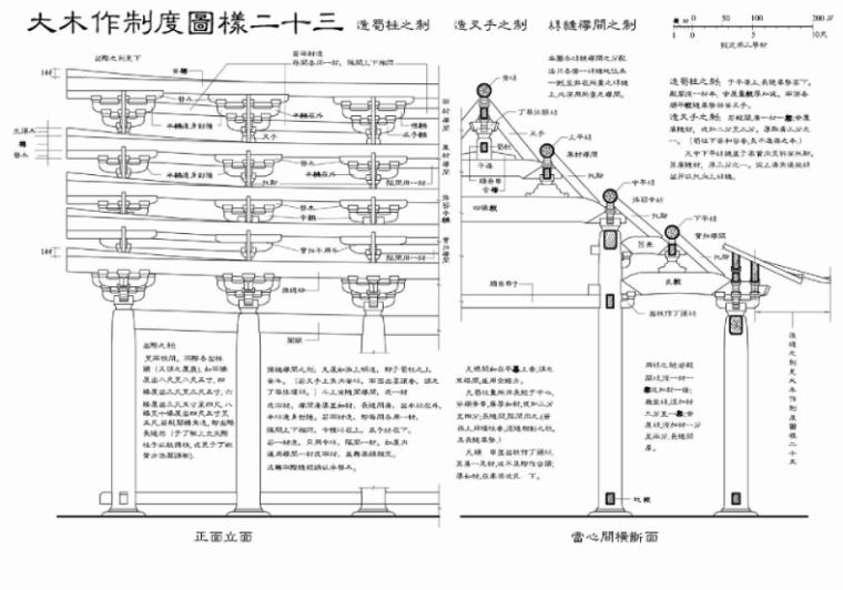 营造法式图样线稿_大木作制度图样5