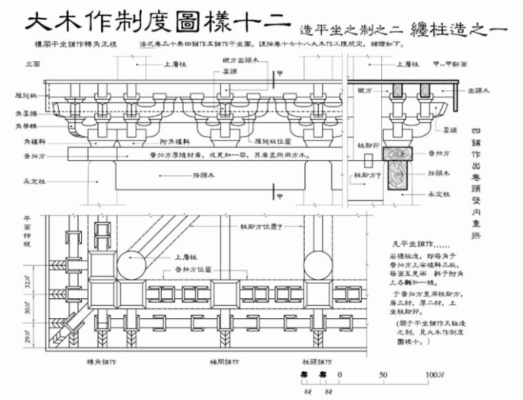 营造法式图样线稿_大木作制度图样4