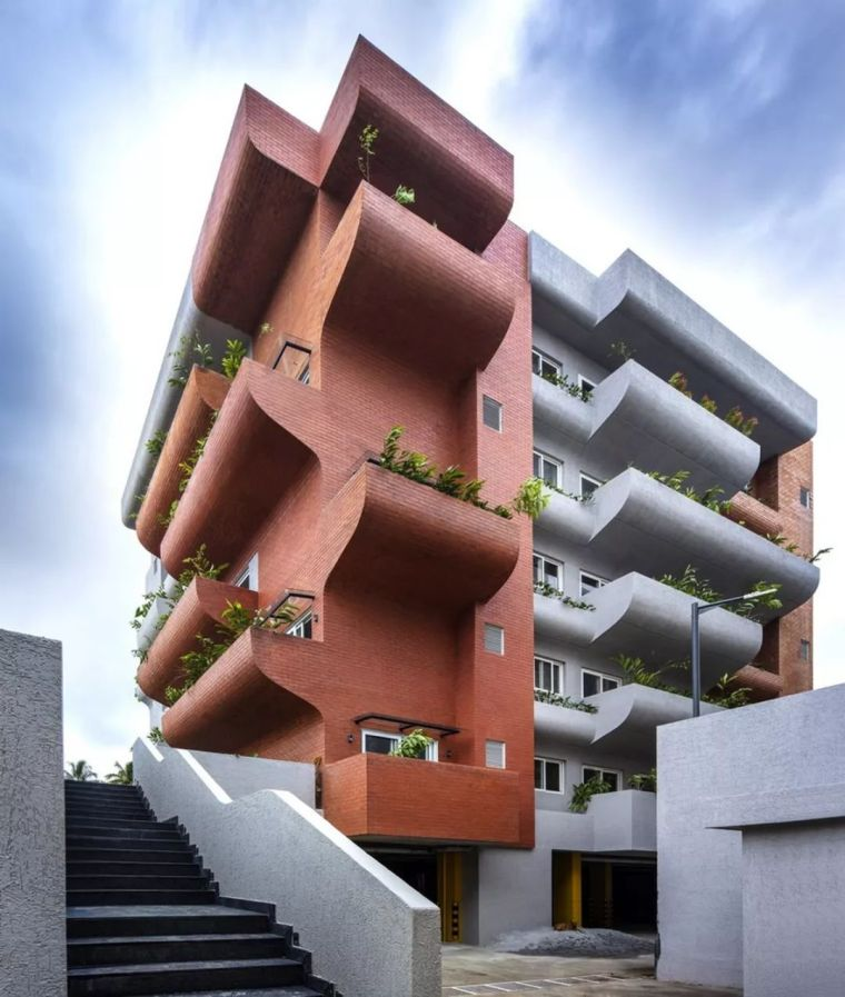 """多层住宅建筑设计:印度""""森林""""公寓/案例_1"""