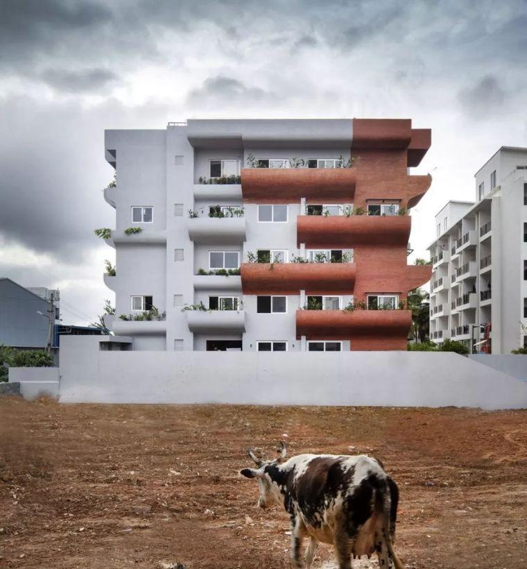 """多层住宅建筑设计:印度""""森林""""公寓/案例_2"""