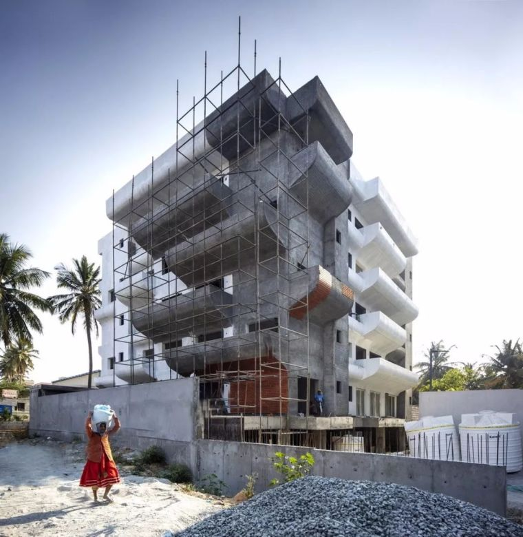 """多层住宅建筑设计:印度""""森林""""公寓/案例_4"""