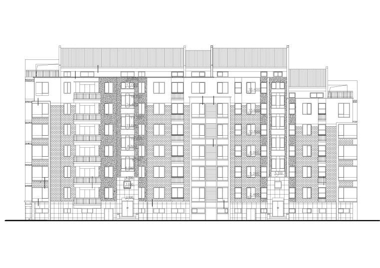 某六层多层住宅楼建筑设计方案扩初图