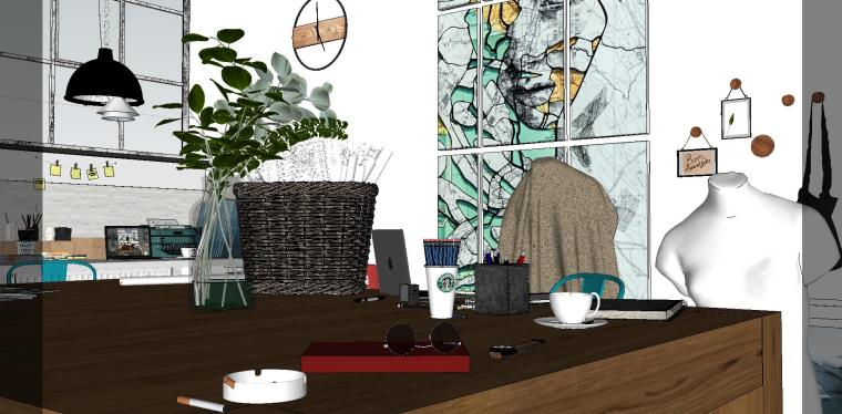 loft现代工作室室内su模型设计-loft现代工作室室内su模型设计 (3)