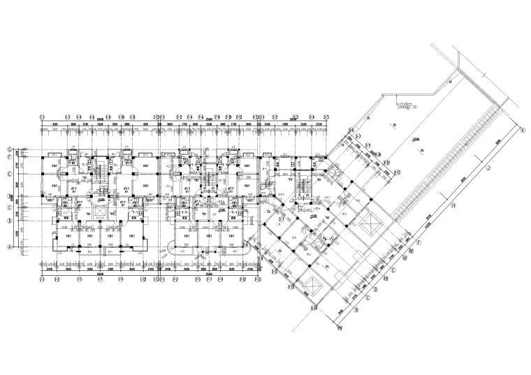 [长春]金玉良园小区高层建筑施工图-三层平面图