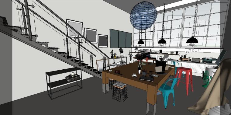 loft现代工作室室内su模型设计-loft现代工作室室内su模型设计 (5)