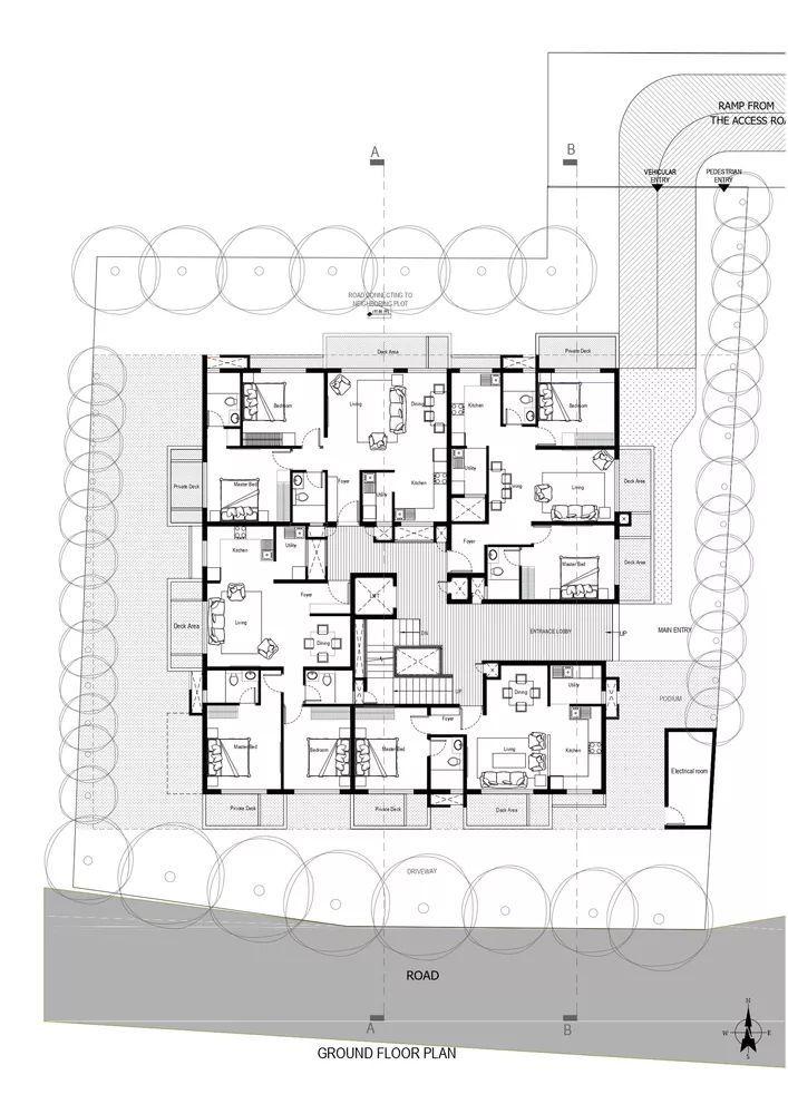 """多层住宅建筑设计:印度""""森林""""公寓/案例_21"""