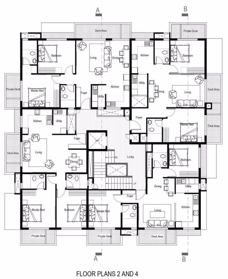 """多层住宅建筑设计:印度""""森林""""公寓/案例_23"""