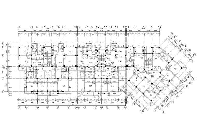 [长春]金玉良园小区高层建筑施工图-四~五层平面图