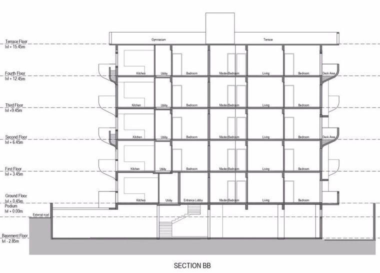 """多层住宅建筑设计:印度""""森林""""公寓/案例_27"""