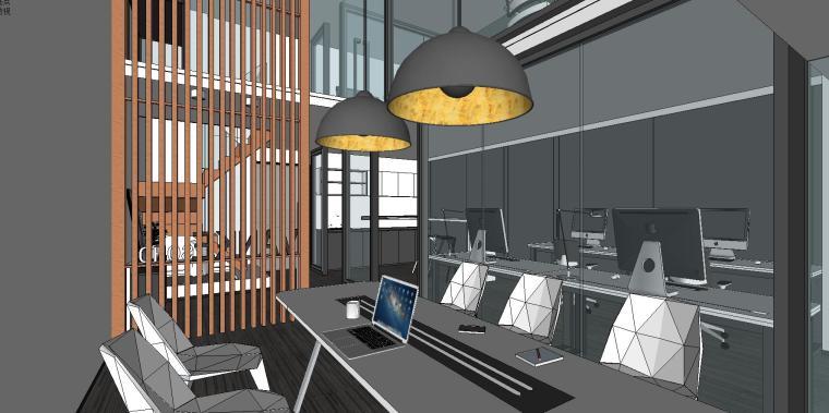 LOFT办公室室内su模型设计 (2)