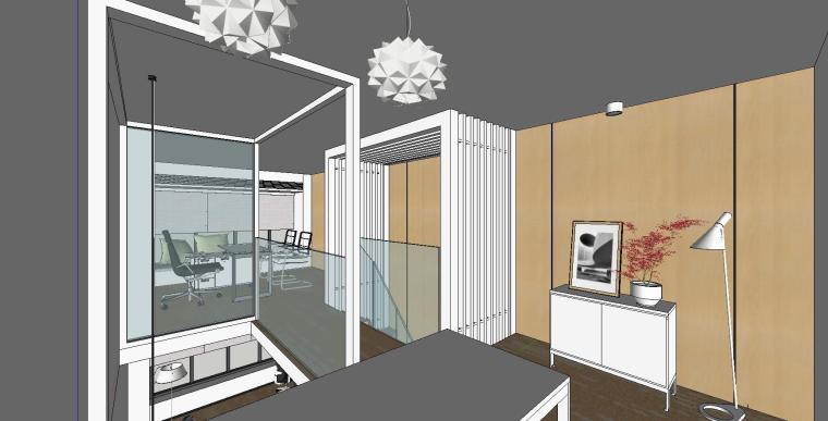 LOFT办公室室内su模型设计 (4)