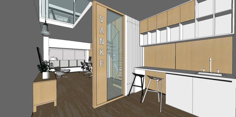 LOFT办公室室内su模型设计 (3)
