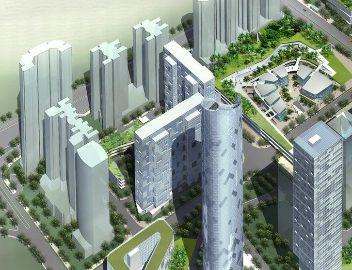 深圳岗厦河园城市综合体概念规划设计文本