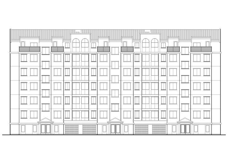 某七层单元式多层住宅建筑施工图纸