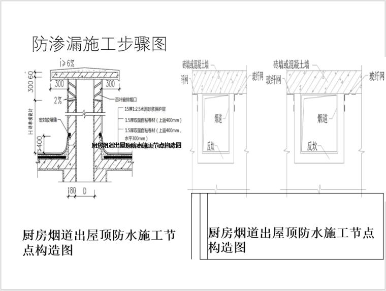 防渗漏施工步骤图
