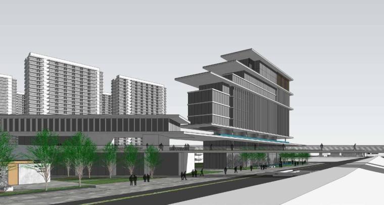 江苏现代风格叠拼别墅合院住宅建筑方案文本-效果展示