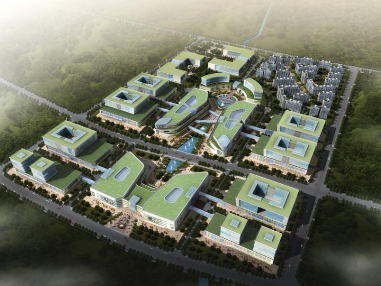 三榆国际商贸综合城修建性规划设计文本-鸟瞰图