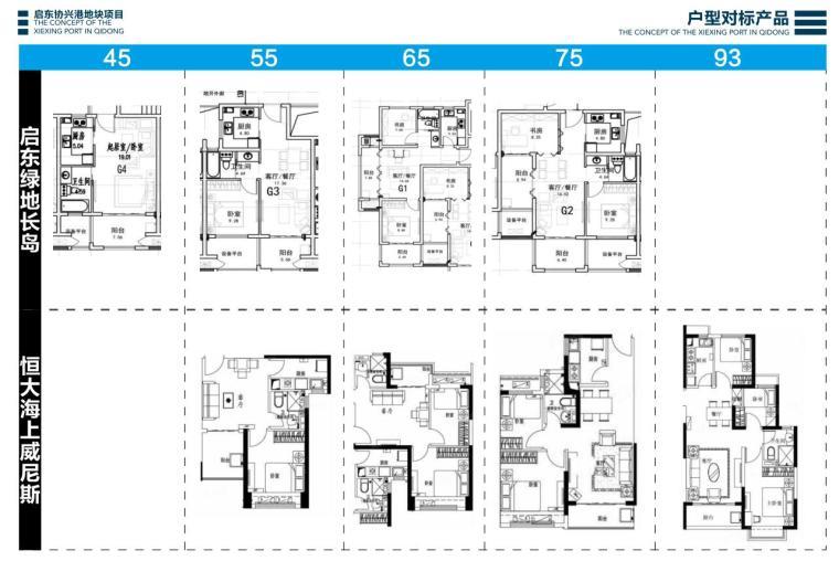 江苏现代风格叠拼别墅合院住宅建筑方案文本-户型对标产品