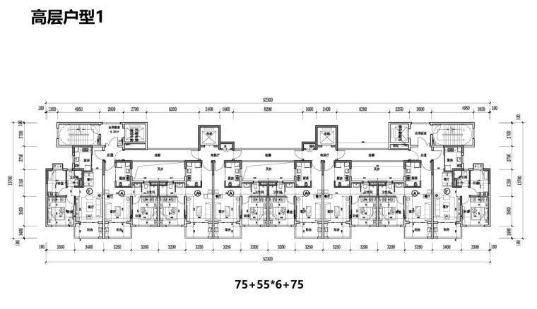 [江苏]现代滨水商业+住宅建筑方案设计-高层户型1