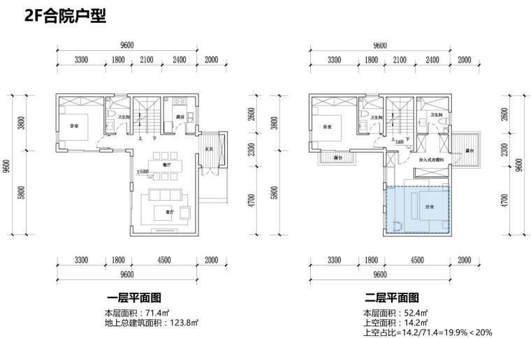[江苏]现代滨水商业+住宅建筑方案设计-2F合院户型