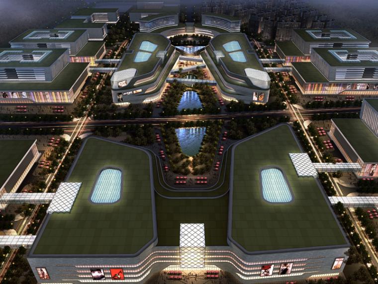 三榆国际商贸综合城修建性规划设计文本-效果图1
