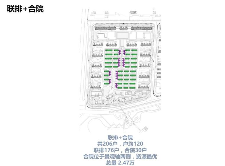 [江苏]现代滨水商业+住宅建筑方案设计-联排+合院