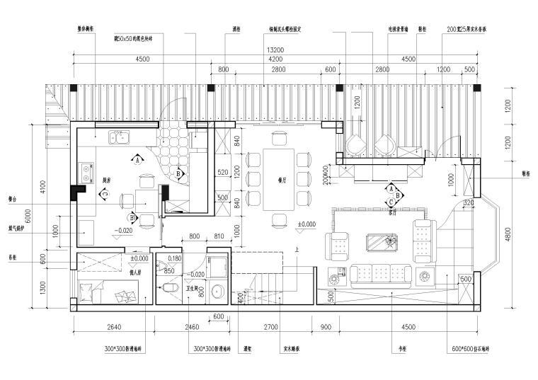 现代风格别墅住宅室内装饰设计施工图