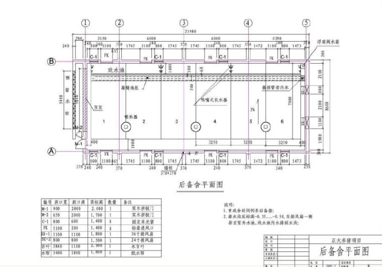 牛羊养殖种植大棚建筑及结构图_PDF-后备舍平面图