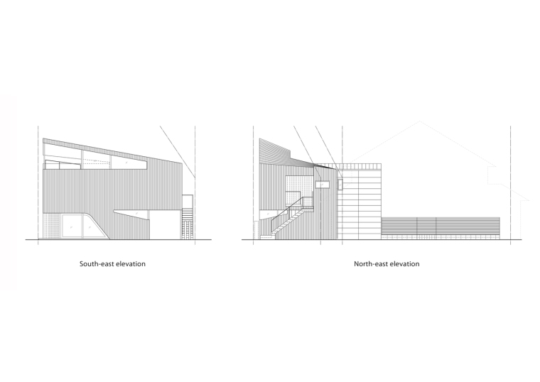 日本混合用途商业建筑-Elevation