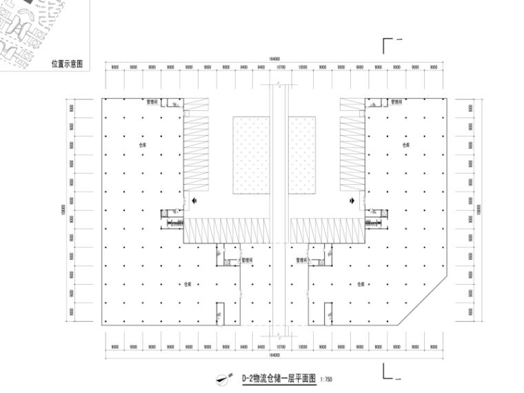 三榆国际商贸综合城修建性规划设计文本-物流仓储一层平面图