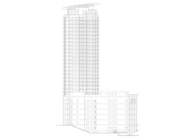 某28层高层建施施工图纸全套(带商场)
