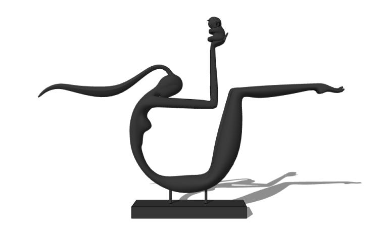 10套顶级景观必备抽象雕塑小品模型SU