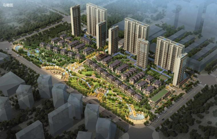[四川]现代风格高层+合院别墅建筑方案