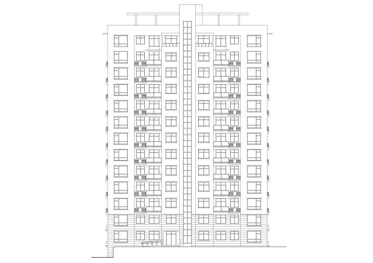 某十三层高层住宅楼建筑施工图