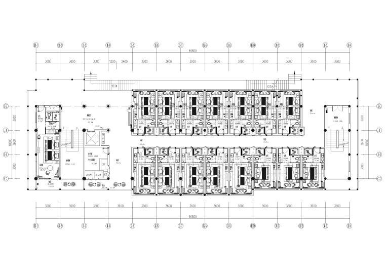 9#楼四层 总平面图