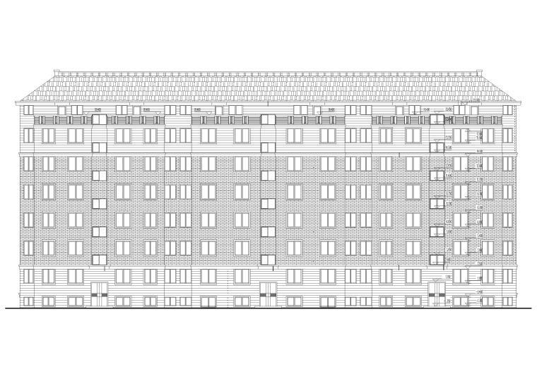 某八层坡顶多层住宅楼建筑施工图