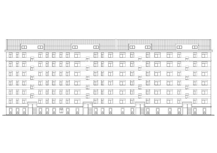 某七层多层宿舍楼建筑施工图